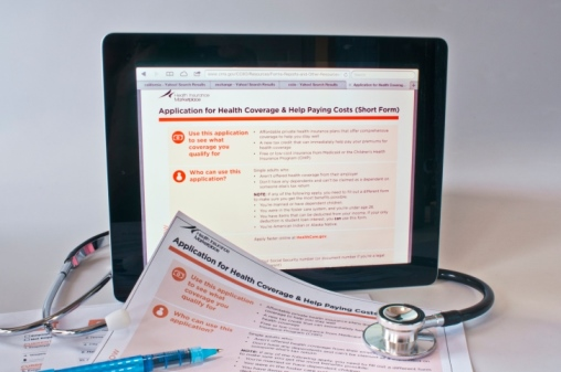 Health care paperwork and online