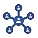 Blue Icon of a Team linked to the Employee Benefits Page