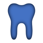Blue Icon of a Tooth linked to the Group Dental Page