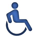 Blue Icon of a Handicap Sign linked to the Disability Insurnace Page