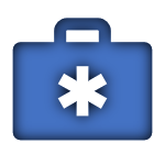 Blue Icon of a Medical Briefcase linked to the Medicare Supplement Page