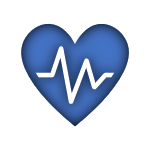 Blue Icon of a Heart with a Heartbeat linked to the Life Insurance Page